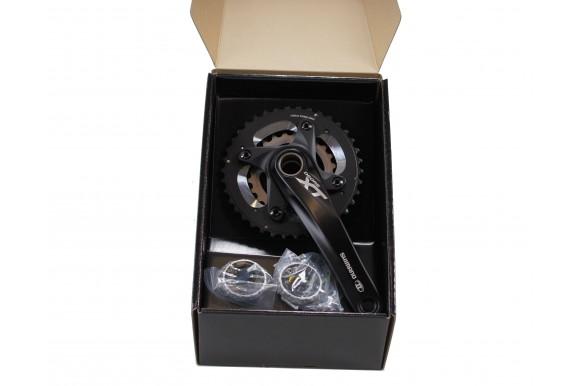 Shimano Deore XT FC-M785 Kurbelgarnitur 2x10-fach 38-24 - schwarz